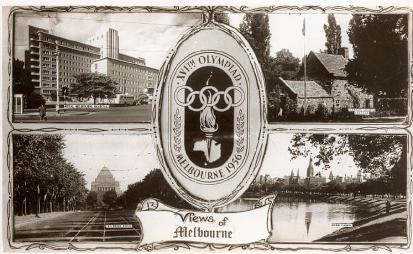 A postcard showing scenes of Melbourne