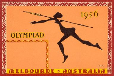 An Olympic Postcard from the Melbourne Olympics